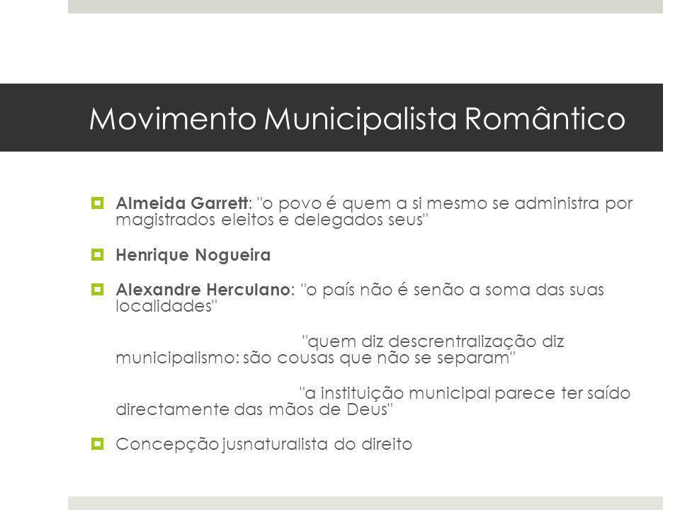 Movimento Municipalista Romântico Almeida Garrett :