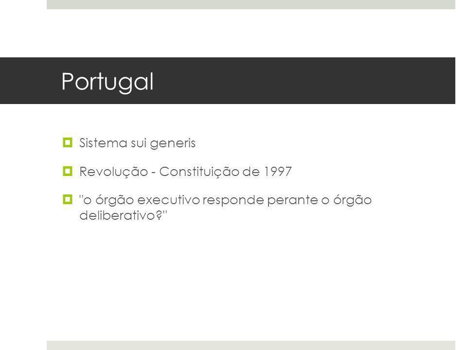 Portugal Sistema sui generis Revolução - Constituição de 1997