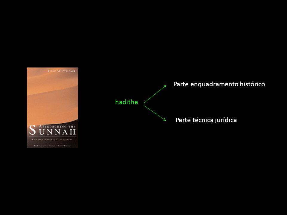 hadithe Parte enquadramento histórico Parte técnica jurídica