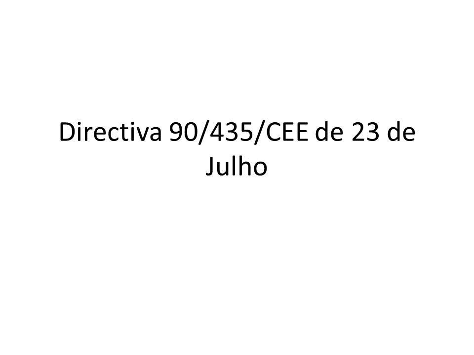 Directiva 90/435/CEE Dupla Tributação Económica VS. Dupla Tributação Jurídica