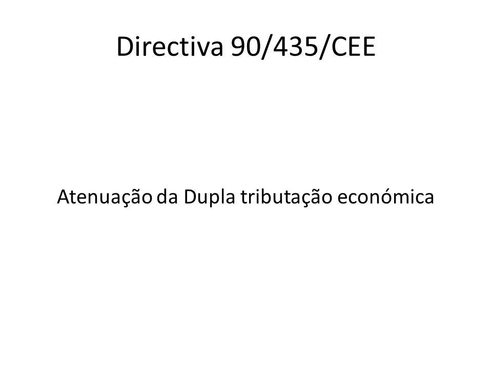 Directiva 90/435/CEE Atenuação da Dupla tributação económica