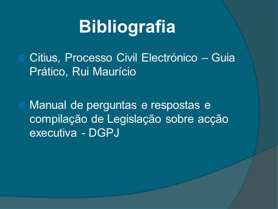 Bibliografia Citius, Processo Civil Electrónico – Guia Prático, Rui Maurício Manual de perguntas e respostas e compilação de Legislação sobre acção ex