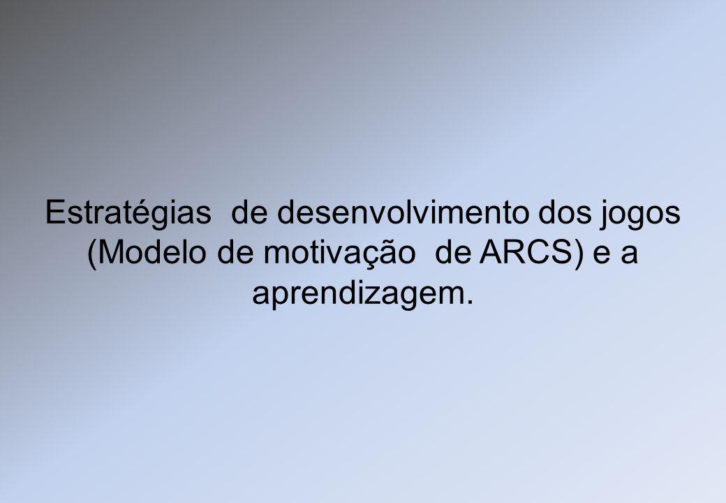 Estratégias de desenvolvimento dos jogos (Modelo de motivação de ARCS) e a aprendizagem.