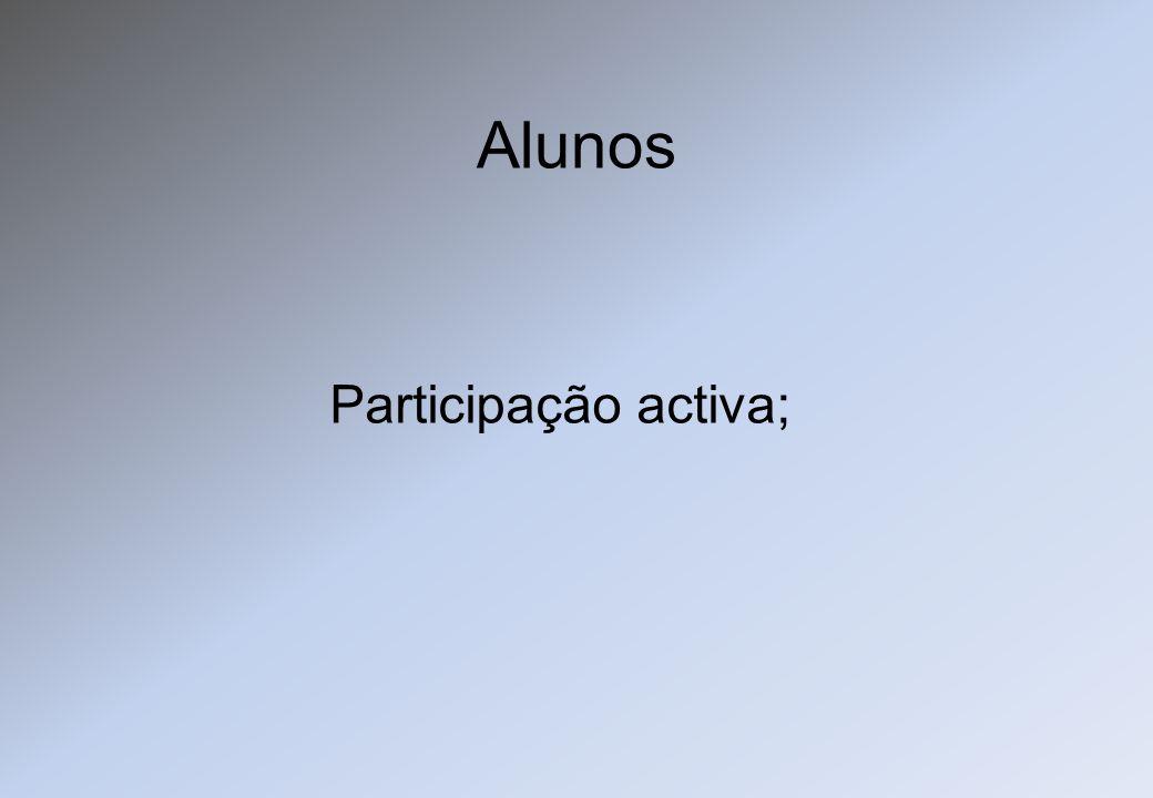 Alunos Participação activa;