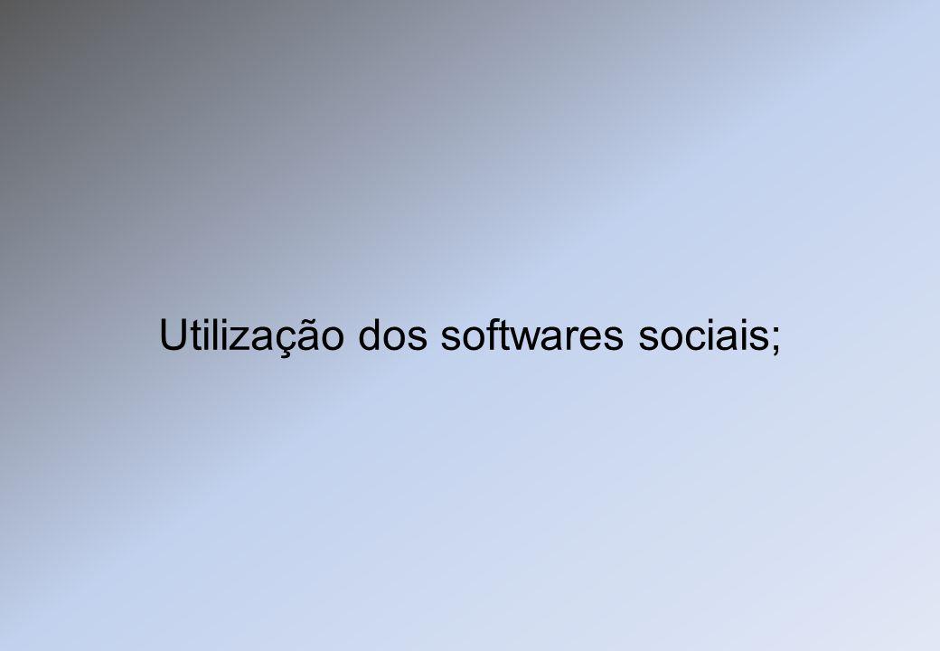 Utilização dos softwares sociais;