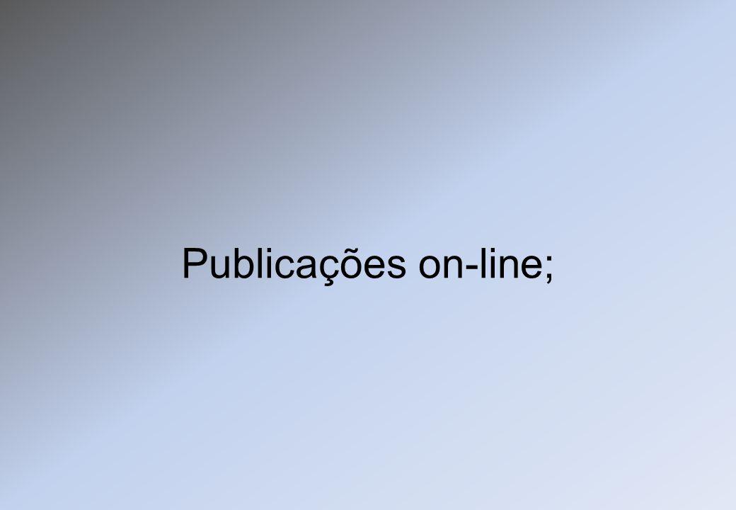 Publicações on-line;