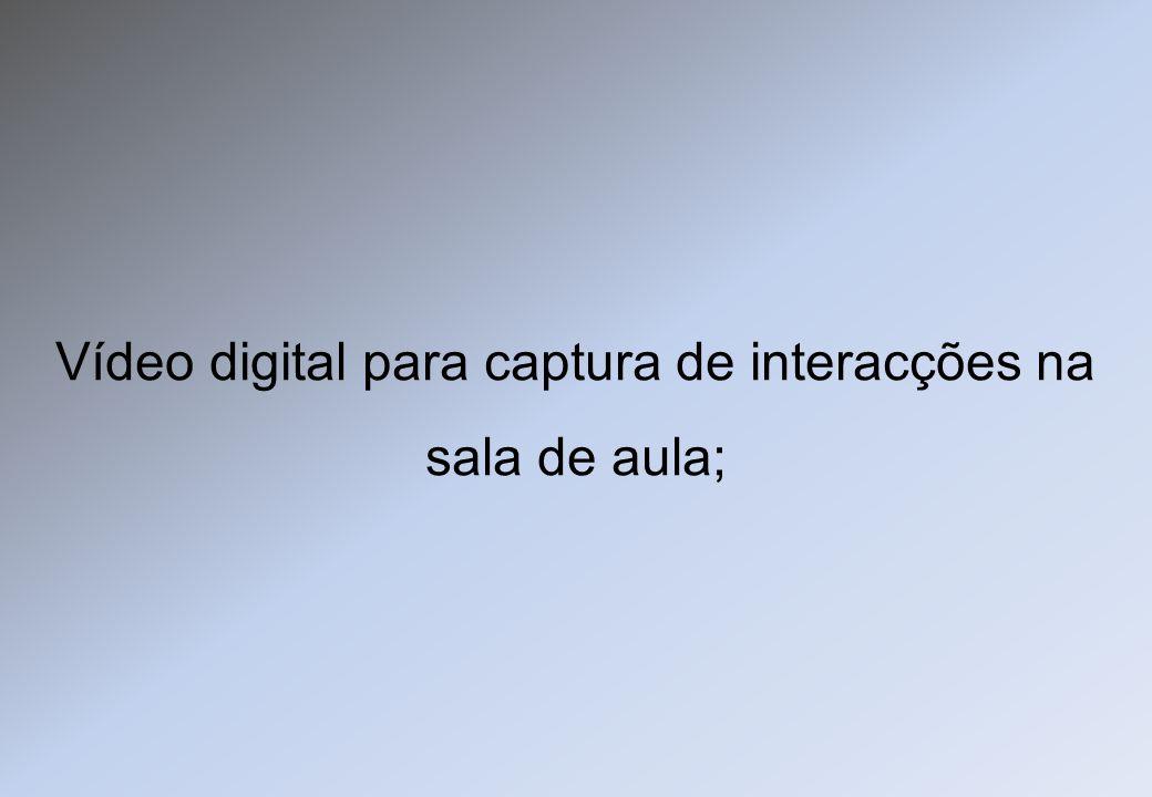 Vídeo digital para captura de interacções na sala de aula;