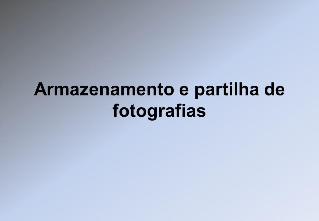 Armazenamento e partilha de fotografias