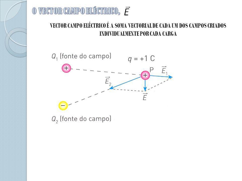 VECTOR CAMPO ELÉCTRICO É A SOMA VECTORIAL DE CADA UM DOS CAMPOS CRIADOS INDIVIDUALMENTE POR CADA CARGA