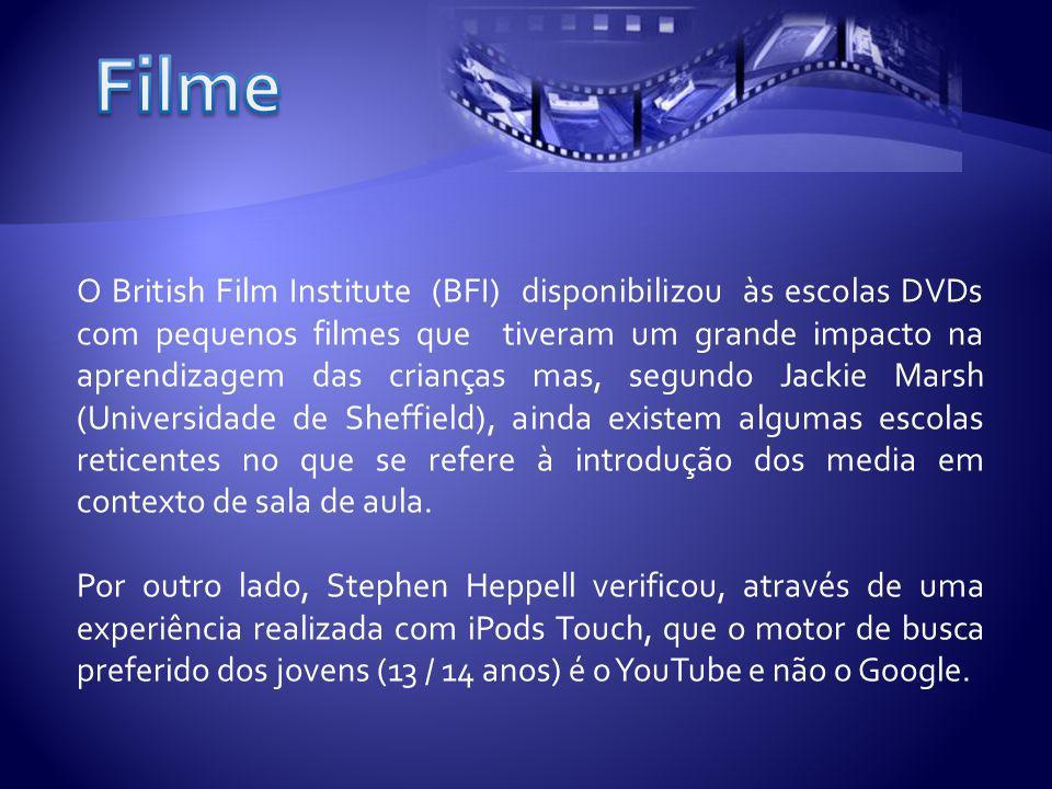 O British Film Institute (BFI) disponibilizou às escolas DVDs com pequenos filmes que tiveram um grande impacto na aprendizagem das crianças mas, segundo Jackie Marsh (Universidade de Sheffield), ainda existem algumas escolas reticentes no que se refere à introdução dos media em contexto de sala de aula.