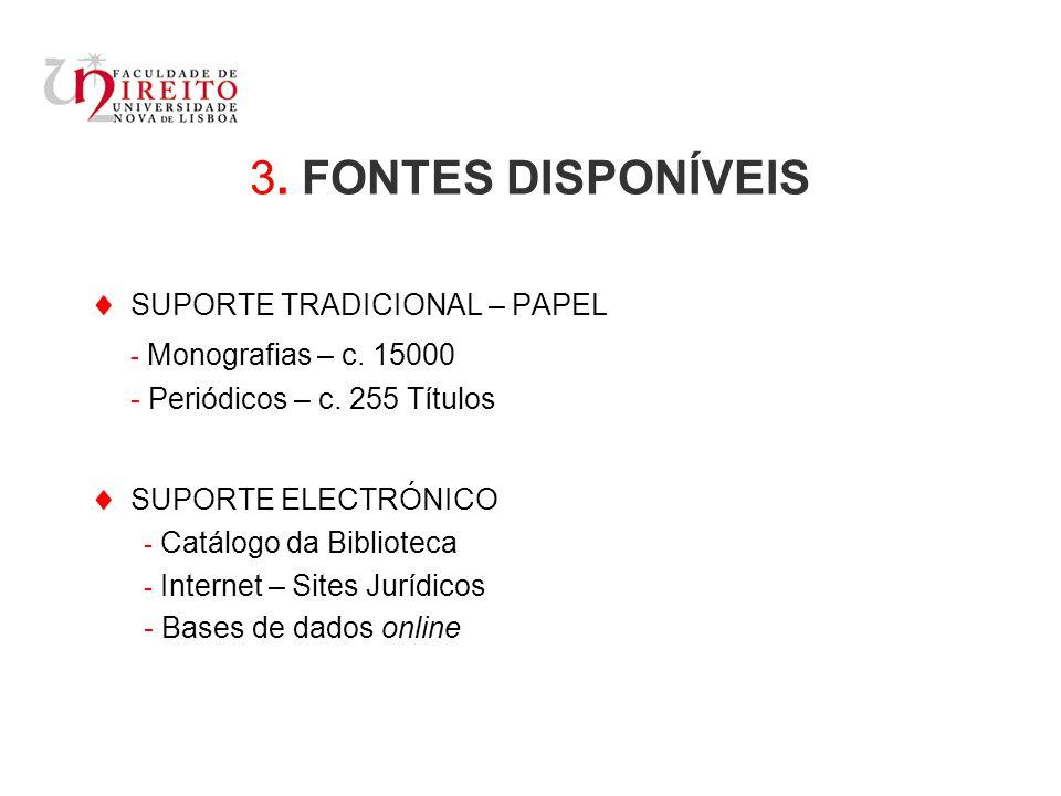 3.FONTES DISPONÍVEIS SUPORTE TRADICIONAL – PAPEL - Monografias – c.