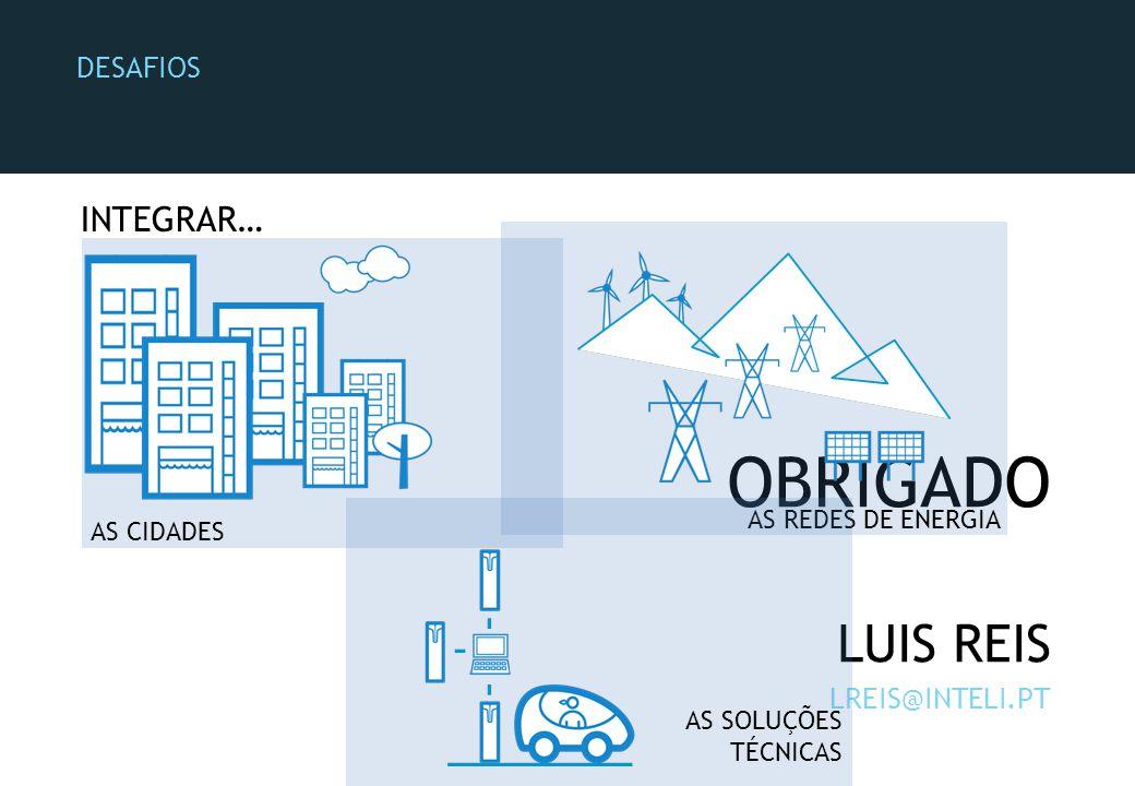 OBRIGADO LUIS REIS LREIS@INTELI.PT AS CIDADES AS REDES DE ENERGIA AS SOLUÇÕES TÉCNICAS DESAFIOS INTEGRAR…