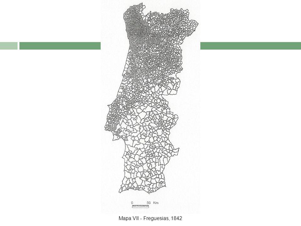 Mapa VII - Freguesias, 1842