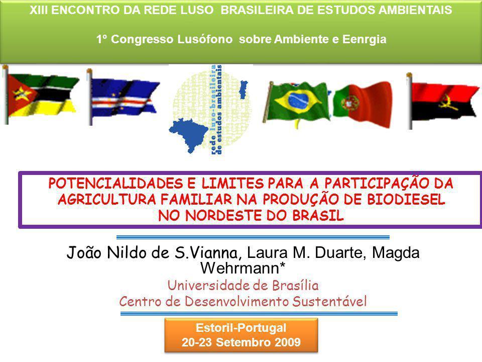 João Nildo de S.Vianna, Laura M. Duarte, Magda Wehrmann* Universidade de Brasília Centro de Desenvolvimento Sustentável POTENCIALIDADES E LIMITES PARA