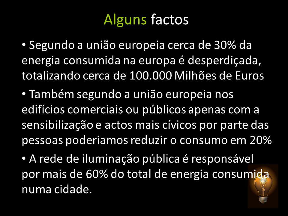 Alguns factos Segundo a união europeia cerca de 30% da energia consumida na europa é desperdiçada, totalizando cerca de 100.000 Milhões de Euros També