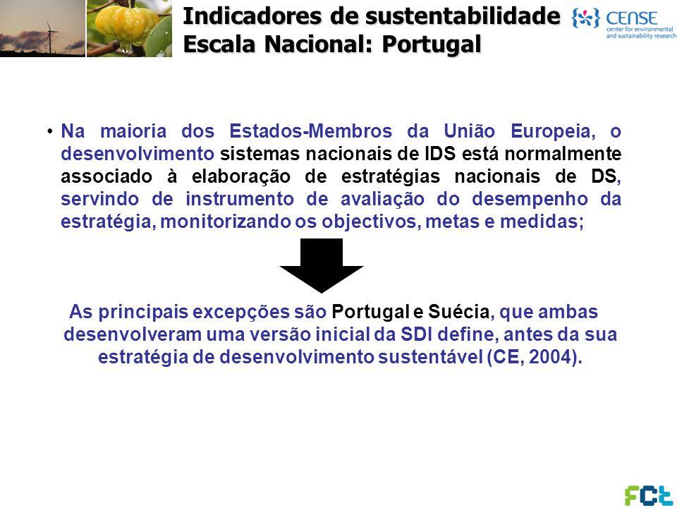 Indicadores de sustentabilidade Escala Nacional: Portugal Na maioria dos Estados-Membros da União Europeia, o desenvolvimento sistemas nacionais de ID