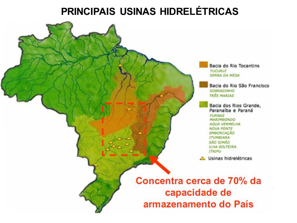 PRINCIPAIS USINAS HIDRELÉTRICAS