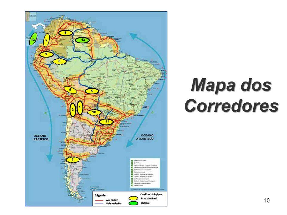 Mapa dos Corredores 10