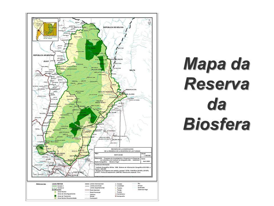 Mapa da Reserva da Biosfera