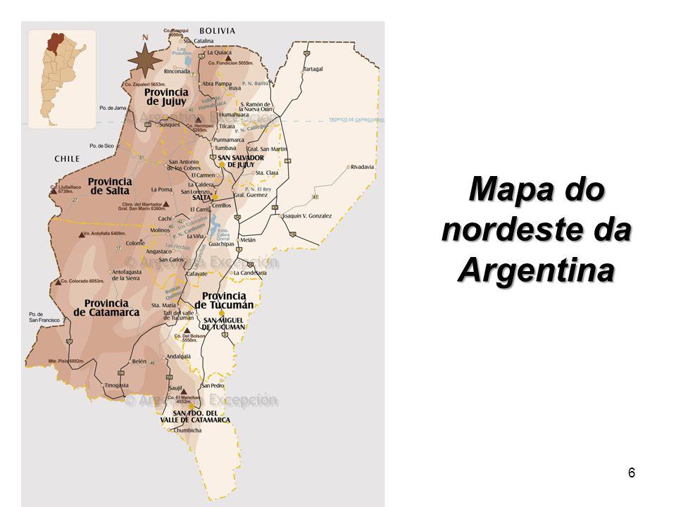 6 Mapa do nordeste da Argentina