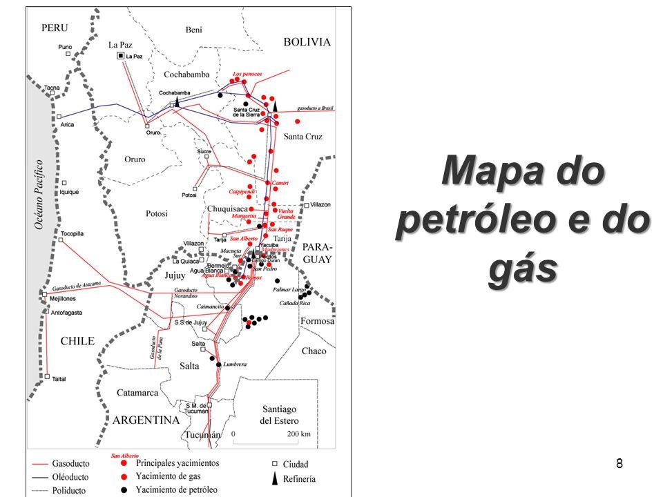 Mapa do petróleo e do gás 8