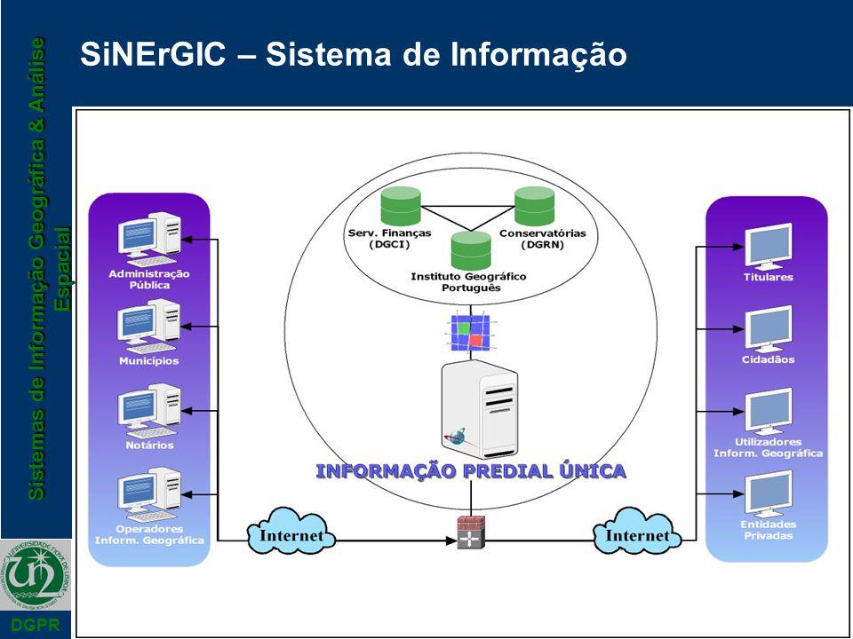 Sistemas de Informação Geográfica & Análise Espacial DGPR SiNErGIC – Sistema de Informação