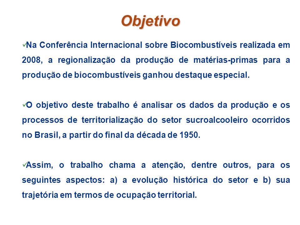 Objetivo Na Conferência Internacional sobre Biocombustíveis realizada em 2008, a regionalização da produção de matérias-primas para a produção de bioc