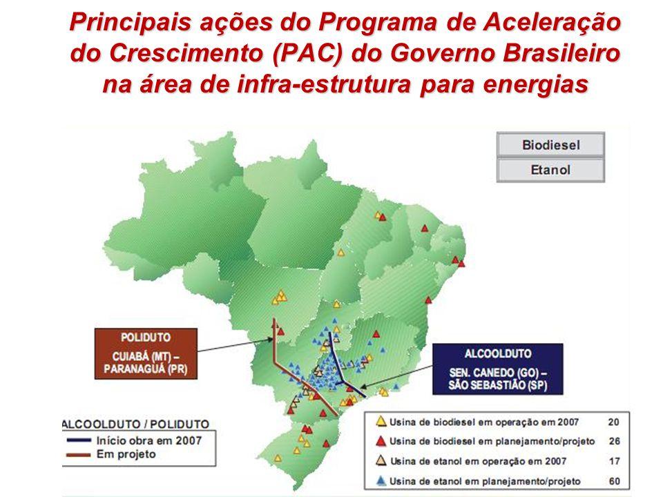 Principais ações do Programa de Aceleração do Crescimento (PAC) do Governo Brasileiro na área de infra-estrutura para energias 9