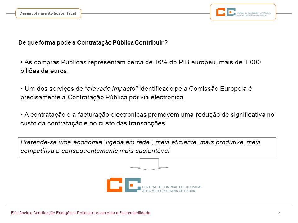 3 Desenvolvimento Sustentável De que forma pode a Contratação Pública Contribuir ? Eficiência e Certificação Energética Politicas Locais para a Susten