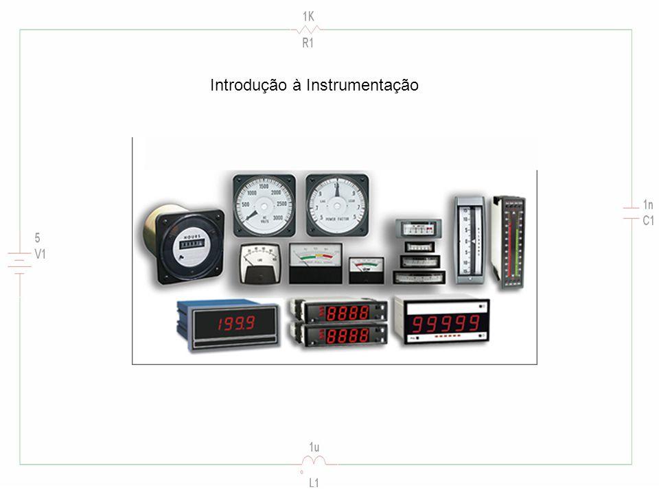 Instrumentos analógicos Instrumentos baseados numa agulha com movimento angular ou linear que se desloca sobre uma escala.
