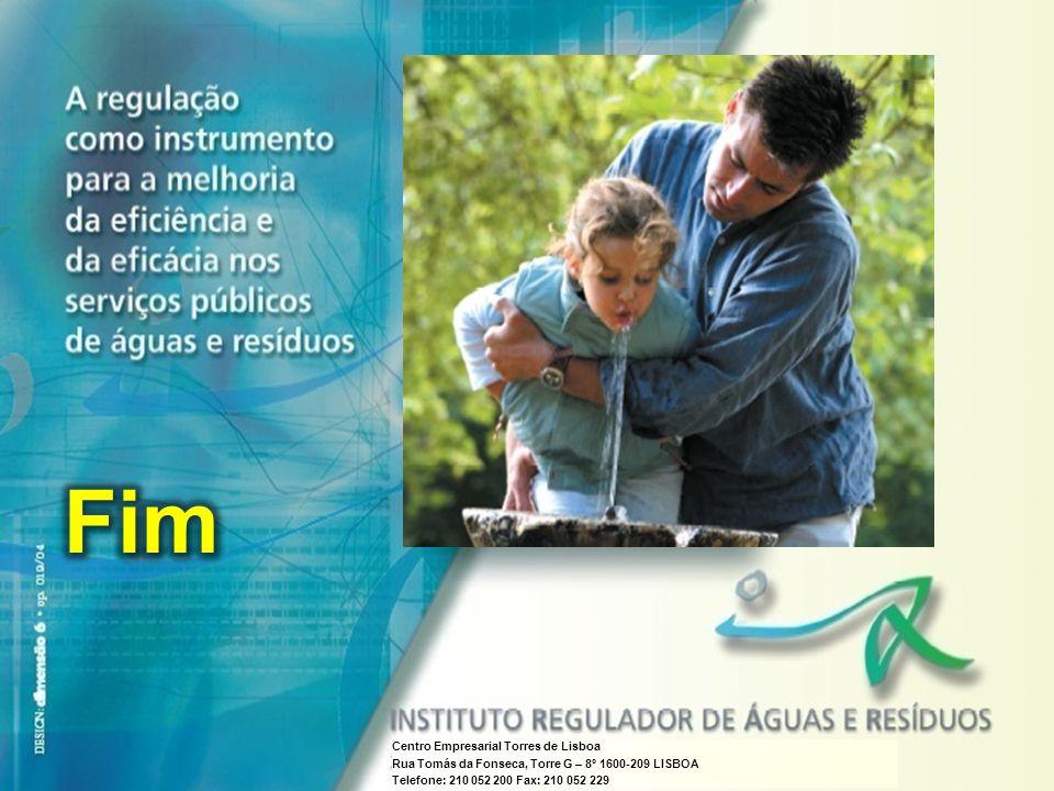 IRAR A regulação como instrumento para a melhoria da eficiência e da eficácia nos serviços públicos de águas e resíduos Centro Empresarial Torres de L