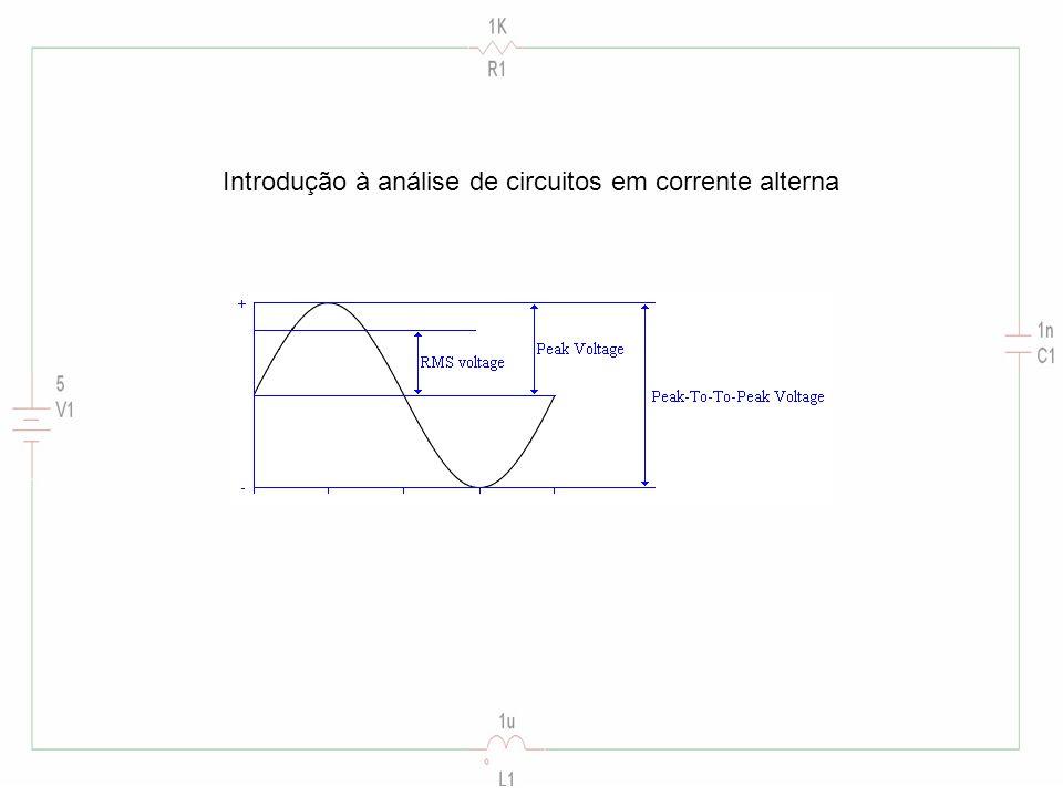 Introdução à análise de circuitos em corrente alterna