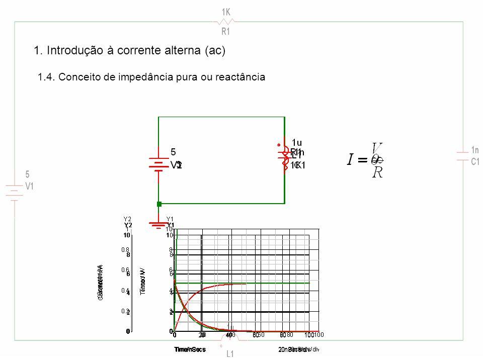 1. Introdução à corrente alterna (ac) 1.4. Conceito de impedância pura ou reactância