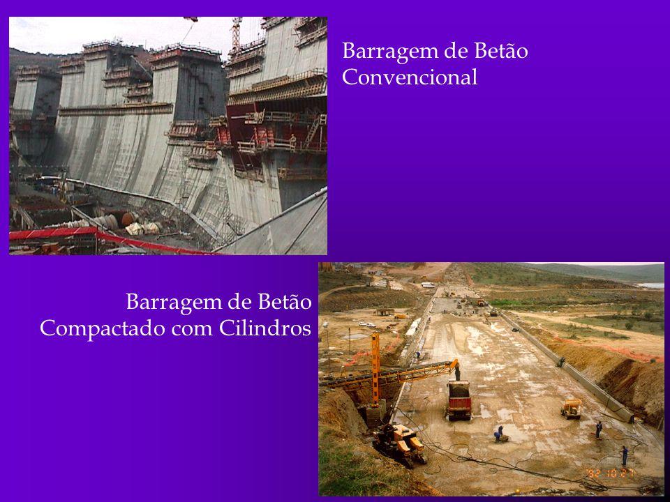 Barragem de Betão Convencional Barragem de Betão Compactado com Cilindros