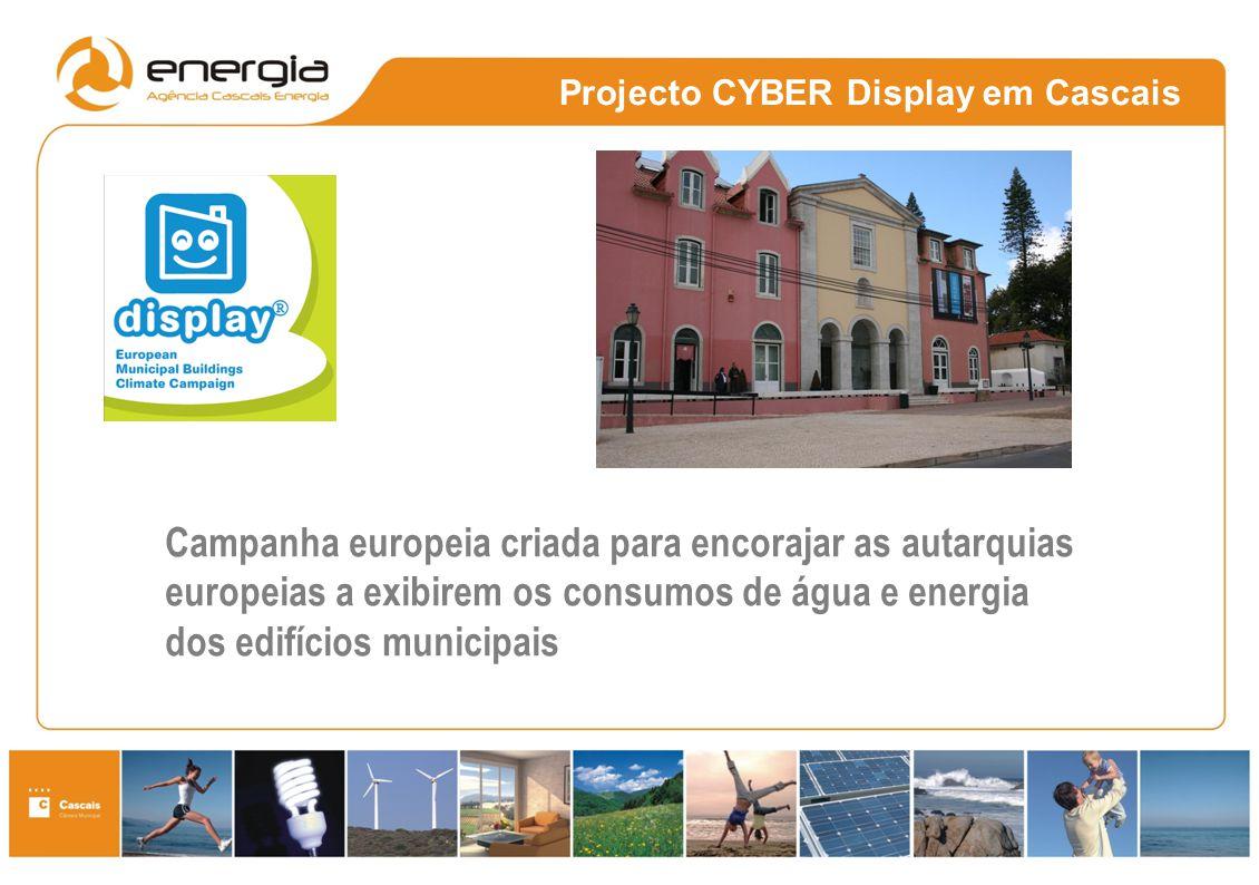 Campanha europeia criada para encorajar as autarquias europeias a exibirem os consumos de água e energia dos edifícios municipais Projecto CYBER Displ