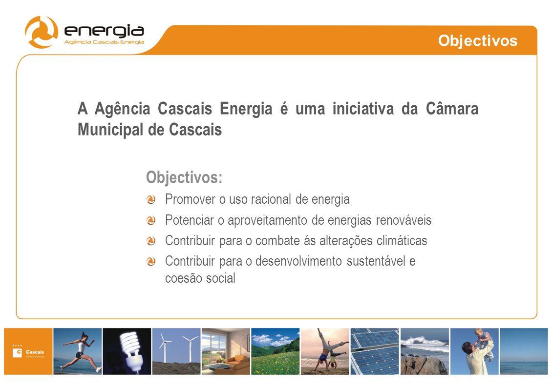 Objectivos: Promover o uso racional de energia Potenciar o aproveitamento de energias renováveis Contribuir para o combate ás alterações climáticas Co