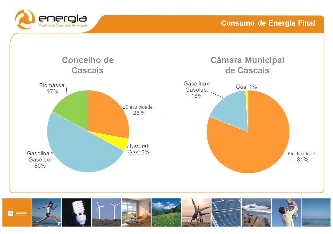 Consumo de Energia Final Concelho de Cascais Câmara Municipal de Cascais