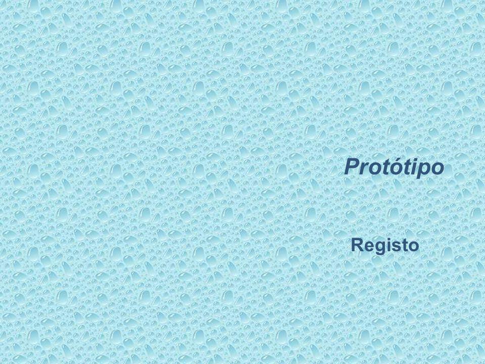 Protótipo Registo