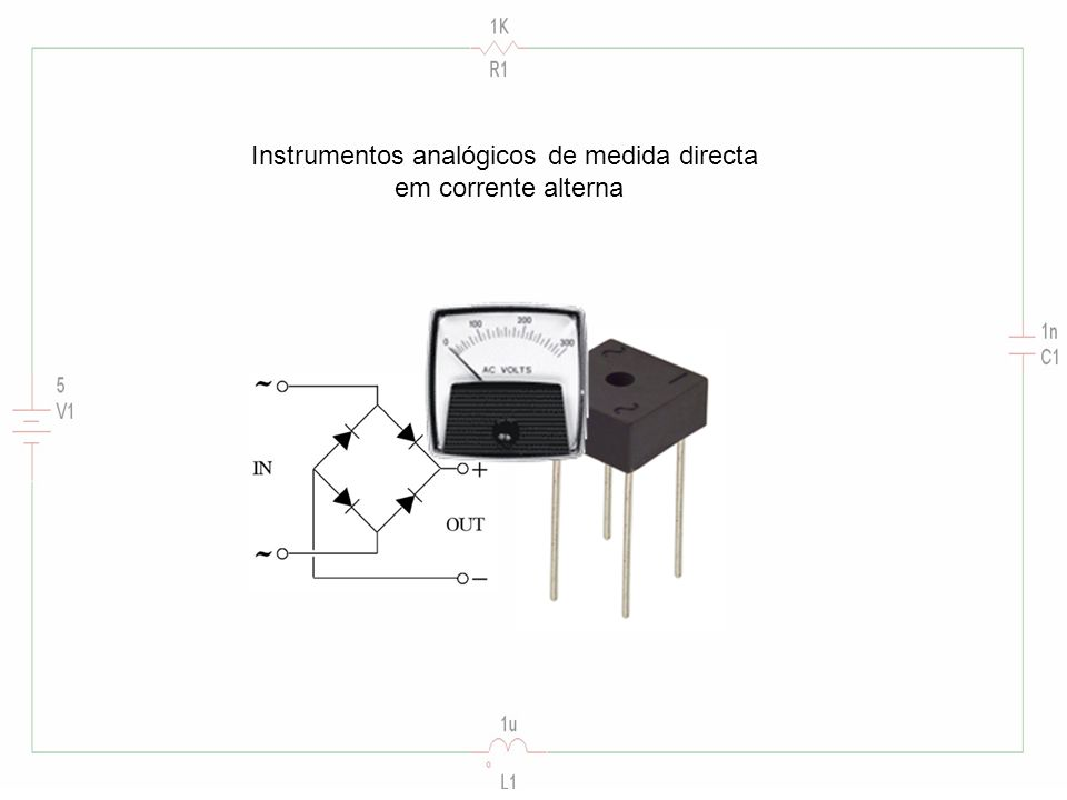 Instrumentos analógicos de medida directa em corrente alterna