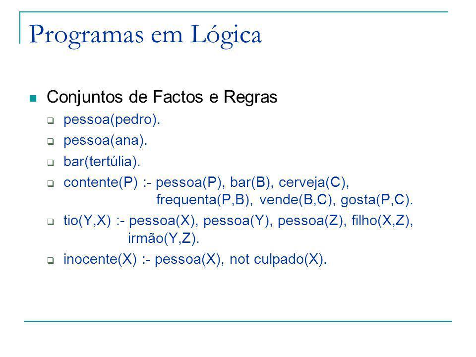 Semântica Problema: dado um programa em lógica, queremos saber o que é verdadeiro (e o que é falso).