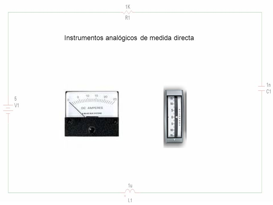 Instrumentos analógicos de medida directa