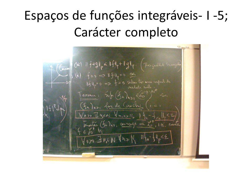 Espaços de funções integráveis- I -5; Carácter completo