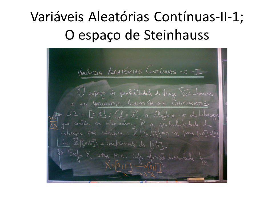Variáveis Aleatórias Contínuas-II-1; O espaço de Steinhauss
