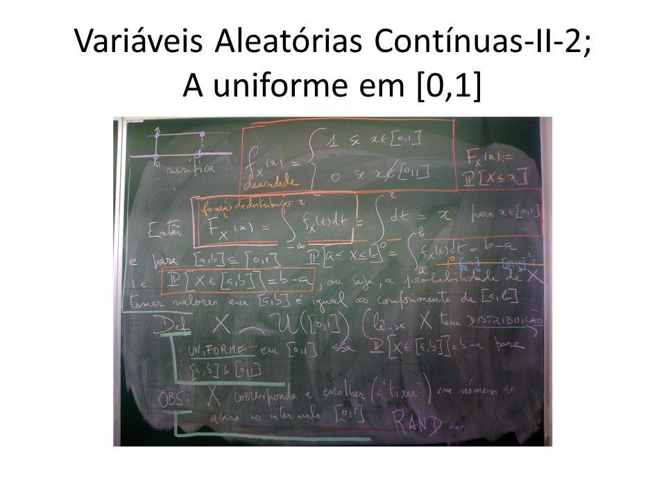 Variáveis Aleatórias Contínuas-II-2; A uniforme em [0,1]