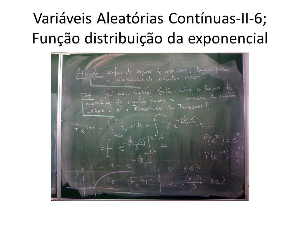 Variáveis Aleatórias Contínuas-II-6; Função distribuição da exponencial