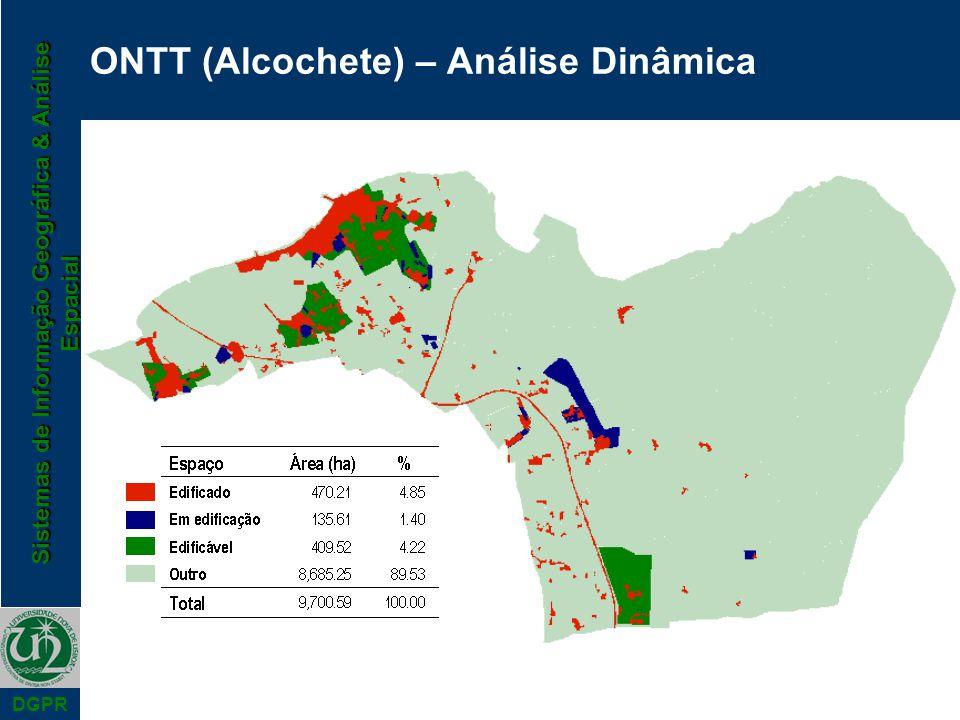 Sistemas de Informação Geográfica & Análise Espacial DGPR ONTT (Alcochete) – Análise Dinâmica