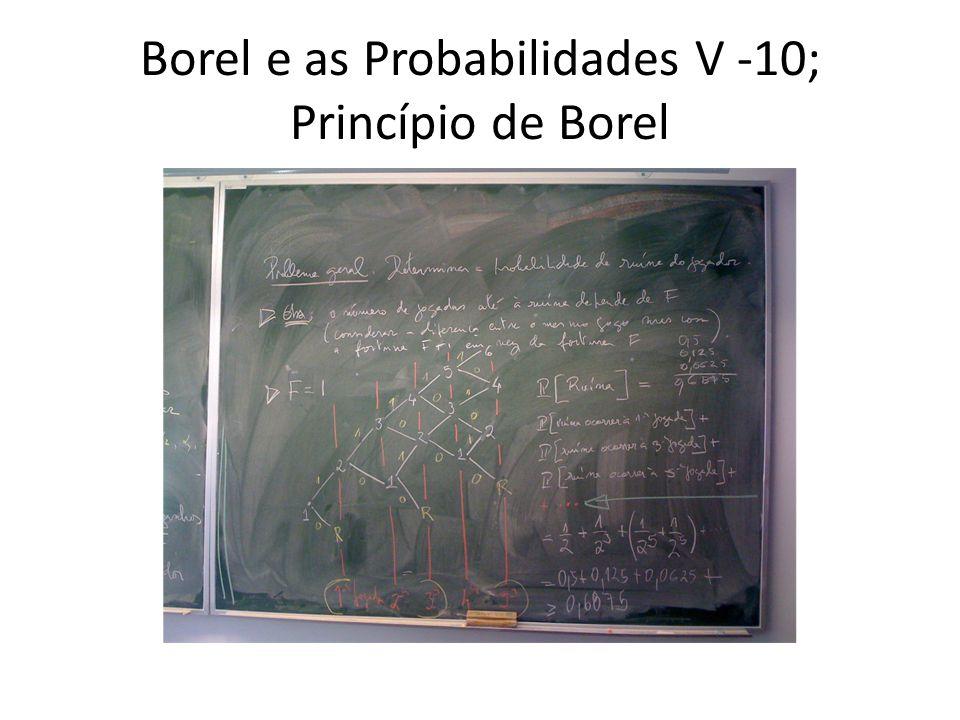 Borel e as Probabilidades V -10; Princípio de Borel