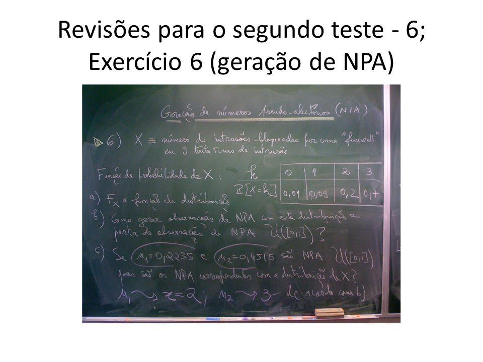 Revisões para o segundo teste - 6; Exercício 6 (geração de NPA)