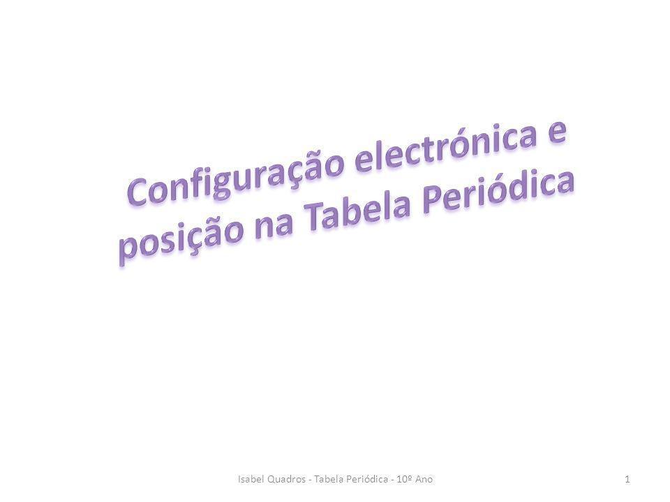 Isabel Quadros - Tabela Periódica - 10º Ano1