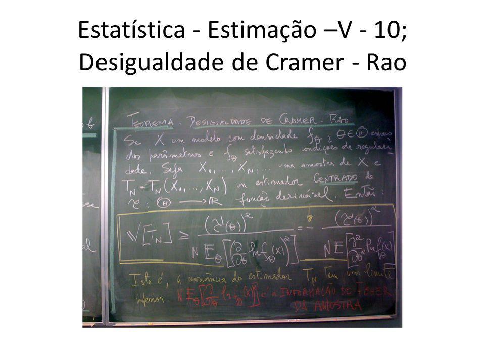 Estatística - Estimação –V - 10; Desigualdade de Cramer - Rao